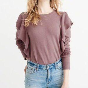 Abercrombie ruffled sweater